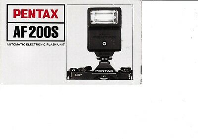 Genuine Pentax Af200S Automatic Flash Unit Manual