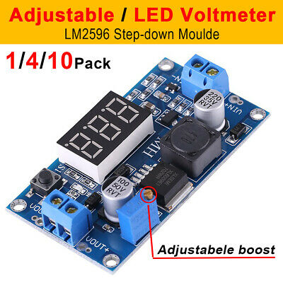 LM2596 DC-DC Buck Voltmeter Converter Adjustable Power Supply Step Down Module