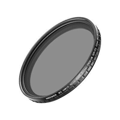 Neewer 52MM ND2-400 ND Filtro Fader Variable ND2 a ND400 Filtro Densidad Neutra