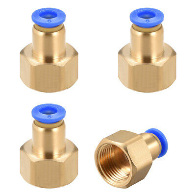 "Push to Connect Tube Fitting Adapter 6mm OD x G3/8"" Female 4pcs"