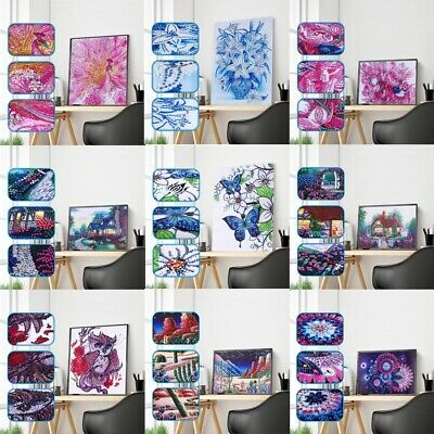 Special Shaped Flower House 5D Diamond Painting Embroidery Cross Stitch Decor