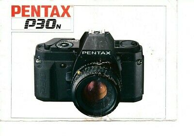Genuine Pentax Camera P30N Instructions Manual