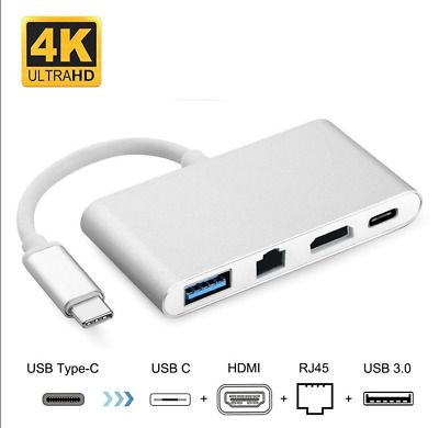 Type-CUSB-C  to 4K HDMI DVI VGAMultiport Converter Cable USB-CMultiport Adapter