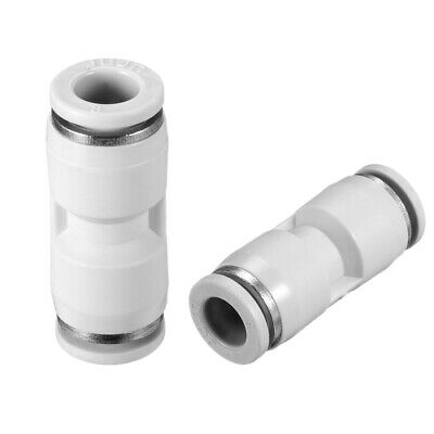"""10pcs Push to Connect Fittings 8mm or 5/16"""" Straight od Tube Fittings White"""