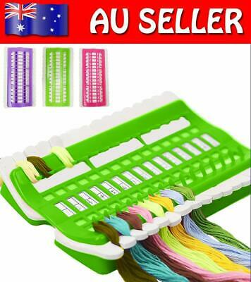 30 Hole Cross Stitch Thread Organizer Board Needlework Floss Holder Sewing Tools