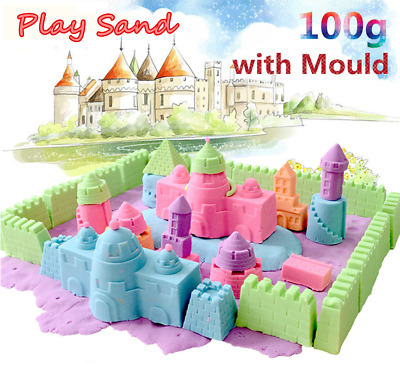 100g Magic Motion Moving Play Sand DIY Indoor Colorful Kids Toy Craft +Mould