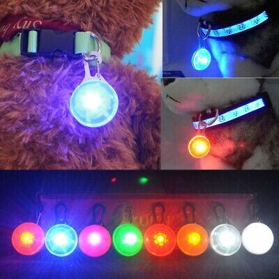 1PC For Pet Dog Cat Puppy LED Flashing Collar Safety Night Light Keyring Pendant