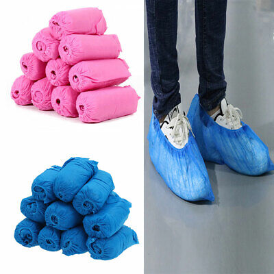 100x Wearable Disposable Anti Skid Durable Non Woven Fabric Non-slip Shoe Covers