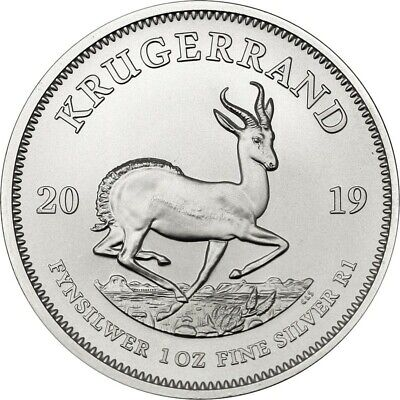 Krugerrand 2019 -  1 once argent silver .999 - South Africa 1 oz