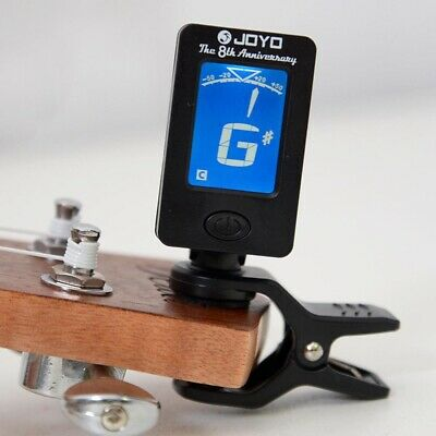 Chromatic Guitar Tuner Violin Ukulele Bass LCD Electronic Digital Clip-on I3N8A