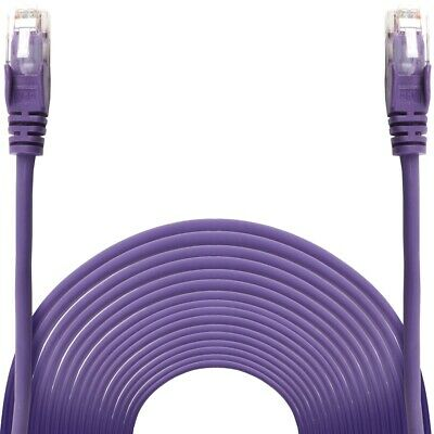 10m PURPLE ETHERNET CABLE Internet Network Cat6 FAST Gaming Console PC TV Lead
