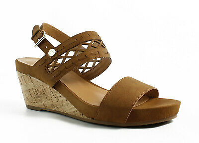 bd4388e11 TOMMY HILFIGER WOMENS Brown Ankle Strap Heels Size 6 (415791 ...