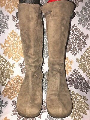 df62fddb7eb9a Teva Montecito Brown Suede Leather Mid Calf Zip Boots Size 8   39 ~ 4026