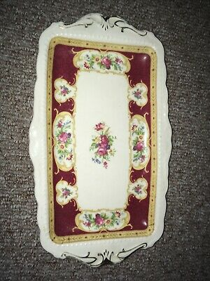 Royal Albert Lady Hamilton Rectangular Sandwich Plate - Bone China