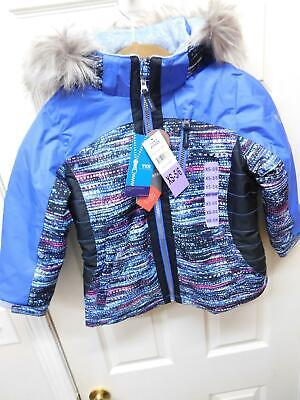 7a9efdc5e FREE COUNTRY GIRLS  Hooded Fleece and Quilted Boarder Jacket ...