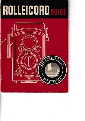 Genuine Vintage 1957 Focal Press Instruction Guide Book Rolleicord