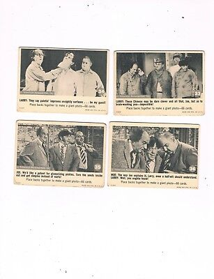 1966 Fleer Three Stooges Trading Card Lot...cards #33, #34, #35 & #36