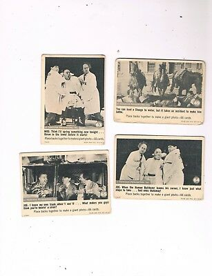 1966 Fleer Three Stooges Trading Card Lot...cards #49, #63, #64 & #65