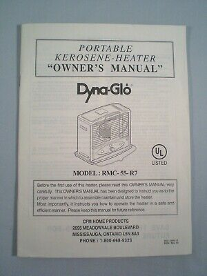 DYNA GLO MANUAL ONLY For Kerosene Space Heater Model RMC 55 R7 Spanish English