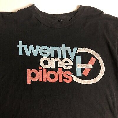 HTF Twenty One Pilots Black Tshirt Size Large Regional at Best