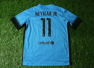 38a41ff3ba4 Barcelona Barca 11 Neymar Jr 2015 2016 Football Shirt Jersey Third Nike  Original