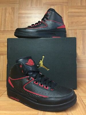 official photos 1d78d 9e0e1 RARE🔥 Nike Air Jordan 2 Retro BG ALTERNATE 87 Black Red Sz 6Y 834276-