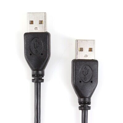 BLACK USB MALE TO MALE CABLES Computer Data Transfer Sync Device CHOOSE LENGTH