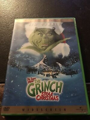 DVD - Dr. Seuss' How the Grinch Stole Christmas (2001, Widescreen) RARE & OOP
