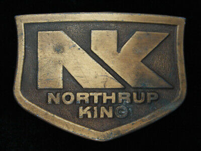 QG23154 VINTAGE 1970s **NORTHRUP KING** FARMING & AGRICULTURE COMPANY BUCKLE