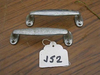 Pair Of Vintage Chromed On Brass Kitchen Handles   ( 30 Pairs Available)