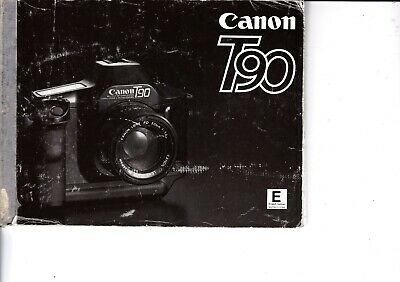 Genuine Original Canon Camera  T90 Instructions Manual 125 Pages