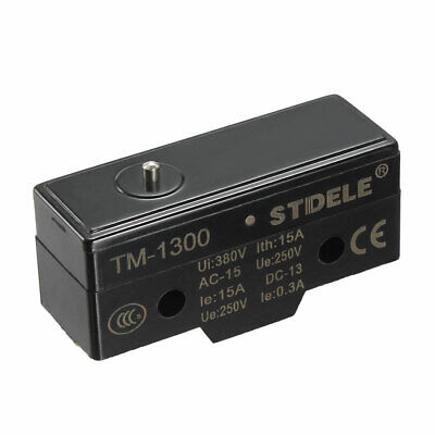 TM-1300 SPDT 1NO+1NC Slim Reed Snap Button Type Micro Switch Screw Terminals