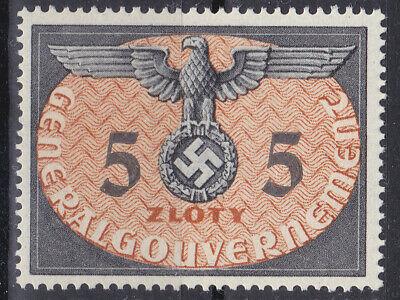 Germany DR / General Government 1940 Dienstmarke Mi. Nr. 15 5 Zloty MNH