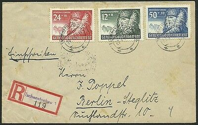 WWII Poland Germany GG 1940 Siedlce letter with full set 1 anniversary GG