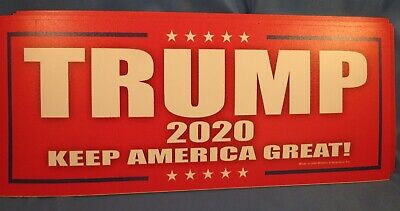 WHOLESALE LOT OF 14 TRUMP 2020 Keep America Great GOP  MAGNET campaign sticker
