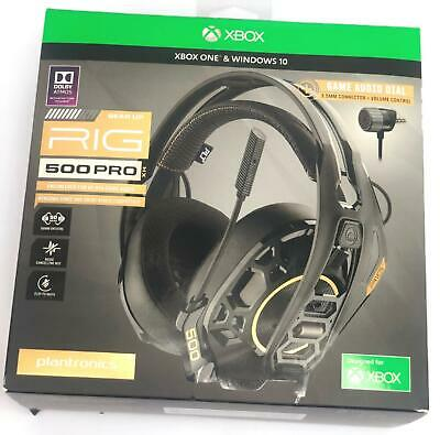 PLANTRONICS RIG 500 PRO HX Atmos Wired Gaming Headset for Xbox One &  Windows 10