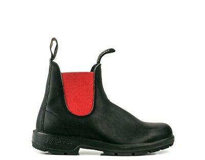 Shoes BLUNDSTONE Woman Ankle boots Low BLACK / RED Leather natural,Fabric 508D