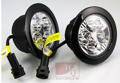 DRL Daytime Running Lights Round 4-LED CREE HQ-V11 fit Fiat Ducato Van Motorhome