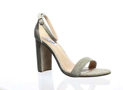 e2798064af7 Steve Madden Womens Carrson Taupe Suede Ankle Strap Heels Size 10 (199750)