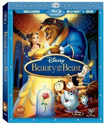 Beauty and the Beast (Blu Ray / DVD, 2010, 3-Disc) with Slip cover