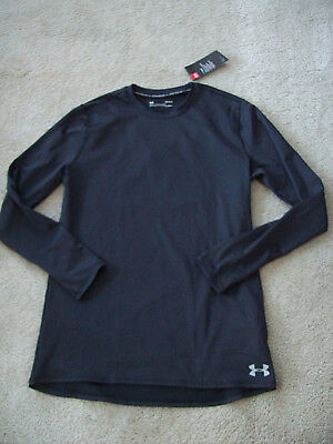 f5e05964 Under Armour Mens ColdGear Black Fitted Crew Neck Long Sleeve Shirt Sz SM  NWT