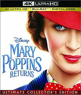 Mary Poppins Returns 4K Ultra HD/Blu-Ray/Digital with SLIPCOVER Disney NEW