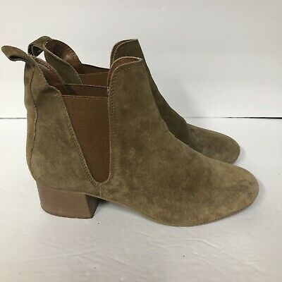 4743b6fa779d TOPSHOP WOMENS ANKLE Bootie Size 8.5 Brown Suede Leopard Boot Side ...