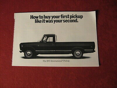 1971  IH Truck Rig Semi Sales Brochure Old Booklet Book Bus Catalog Original
