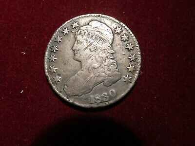 1830 Capped Bust Half Dollar - Pretty Nice Detail, But A Bit Beat Up!