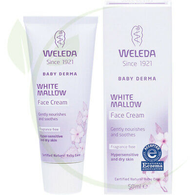WELEDA - White Mallow Face Cream Baby Derma - Fragrance Free - 50ml