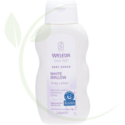 WELEDA - White Mallow Body Lotion Baby Derma - Fragrance Free - 200ml