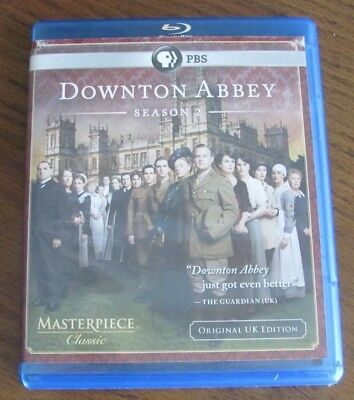 Downton Abbey: Season 2 Two - Blu-ray Disc, 2012, 3-Disc Set, Original UK ed.
