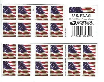 2017 Scott 5161 U. S. FLAG   Book of 20  Forever Stamps MNH P1111