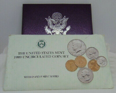 """1989 United States Mint Proof Set / 1989 Uncirculated Coin Set """"Lot"""""""